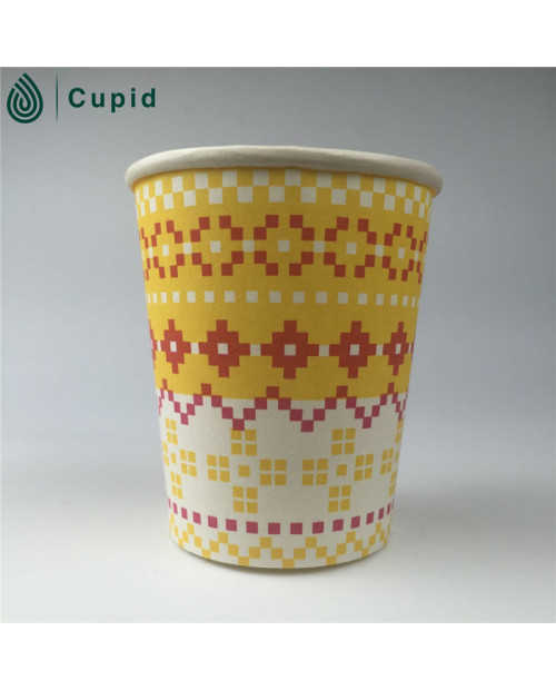 PE coated single wall paper cups for hot cold drinking